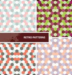 Set of retro patterns vector image vector image