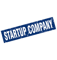 Square grunge blue startup company stamp vector