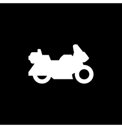 Touring motorcycle icon vector image