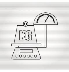 weight measurement design vector image vector image