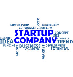 Word cloud - startup company vector