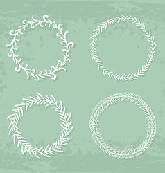 Wreaths collection vector