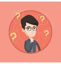 Young businessman thinking vector image