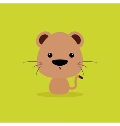 Cute cartoon wild cat vector