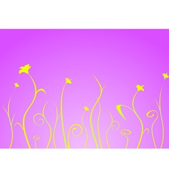 Yellow flowers and stems vector