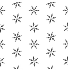Seamless pattern snowflakes abstract isolation vector