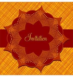 Temtlate for invitation vector image