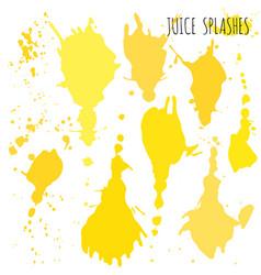juice orange and apple splashes watercolor vector image