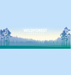 The blue wildforest landscape vector