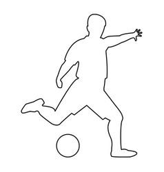 Footballer the black color icon vector