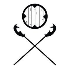 Set of historical halberd silhouettes vector