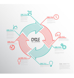 Infographic cycle template vector