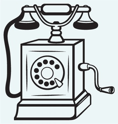 Vintage old telephone vector