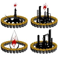 Petroleum business-8 vector image