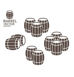 Barrel icon set vector