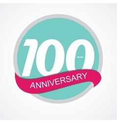 Template logo 100 anniversary vector