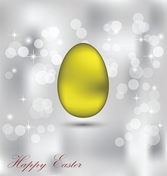 Happy easter background with a colorful egg vector
