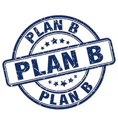 Plan b stamp vector