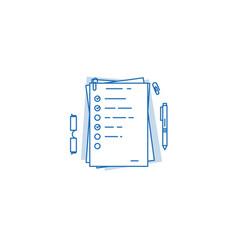 Agenda or check list vector