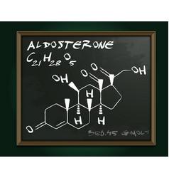 Aldosterone molecule image vector