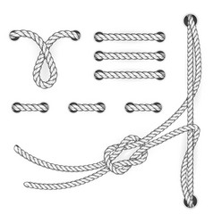 attested document rope stitchs and loops - file vector image vector image