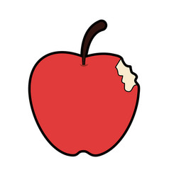 bitten apple fruit icon image vector image vector image