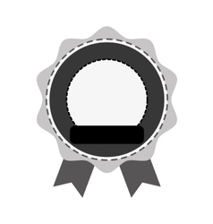 Blank emblem icon image vector