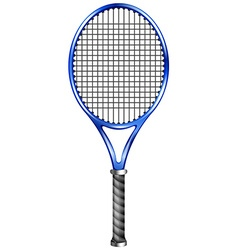 Blue racquet for tennis or squash vector image