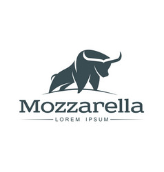 Buffalo mozzarella italian cheese brand logo icon vector