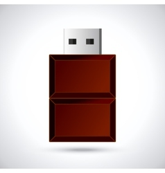 Chocolate flash drive vector