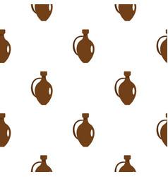 Clay wine jug pattern flat vector
