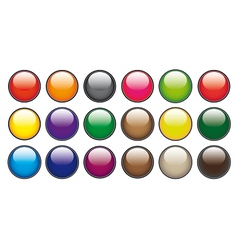 Color circle buttons vector