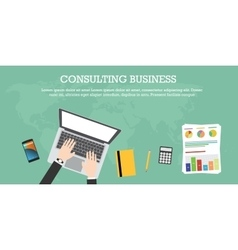 consulting business vector image vector image