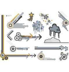 design elements metals vector image