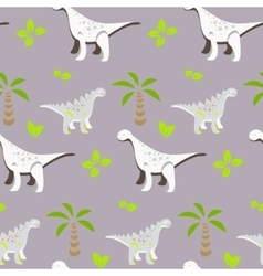 Dinosaur kid seamless pattern for textile vector image