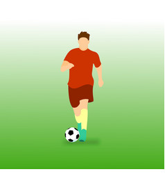 Dribbling ball football soccer player vector