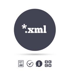 File document icon download xml button vector