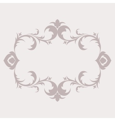 Floral frame in the style of Baroque Decorative vector image