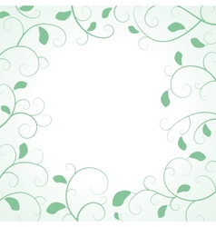 Floral Frame with Leaf vector image