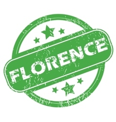Florence green stamp vector