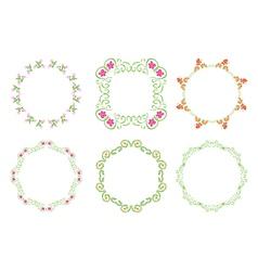 green floral frames - set vector image vector image