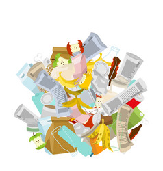 Heap trash isolated pile rubbish garbage stack vector