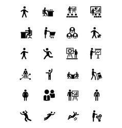 Human icons 2 vector