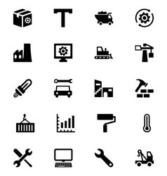 Industrial icons 5 vector