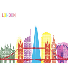 london v2 skyline pop vector image vector image