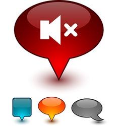 Mute speech comic icons vector