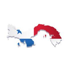 Panama flag amp map vector