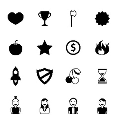 Retro games icons vector