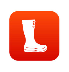 rubber boots icon digital red vector image vector image