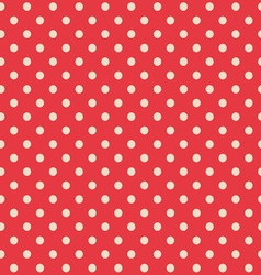 Seamless background of polka dot pattern vector image vector image